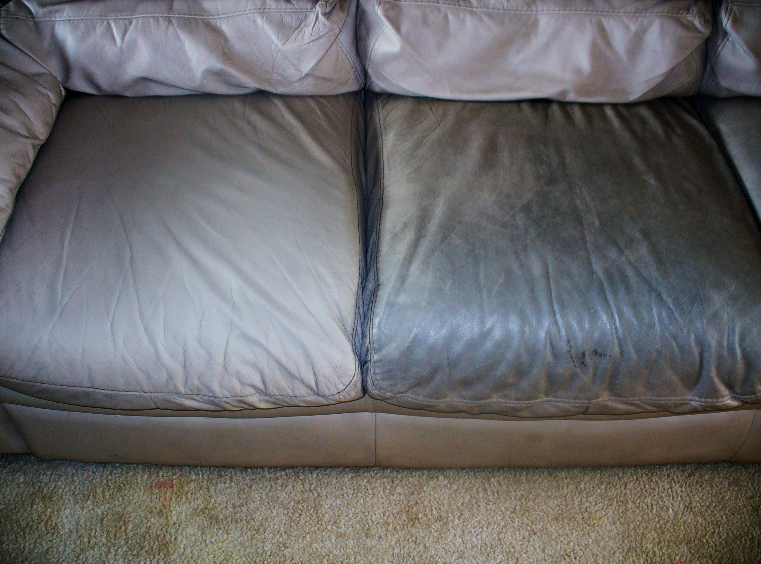 Leather Sofa Dirty versus Leather Sofa Cleaned